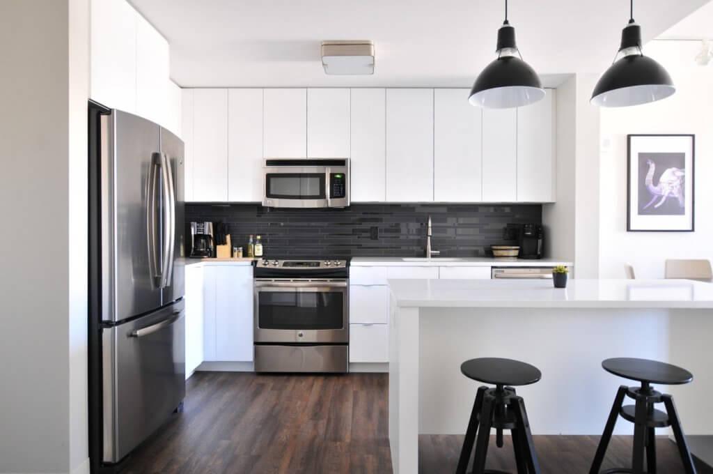 Integrerat kök med öppen planlösning
